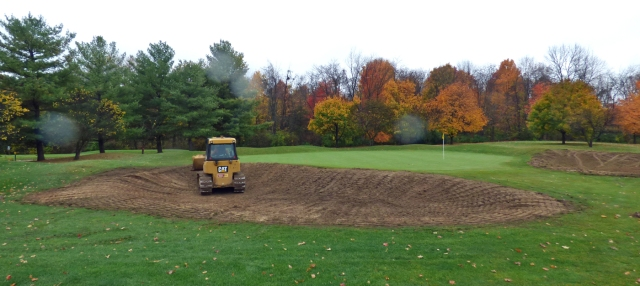 Shaped Left Green Side Bunker No. 15