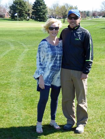 Golf Course Superintendent, Chase Walden and his wife, Melany