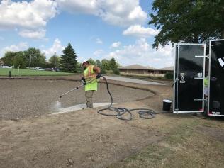 Spraying Billy Bunker Polymer